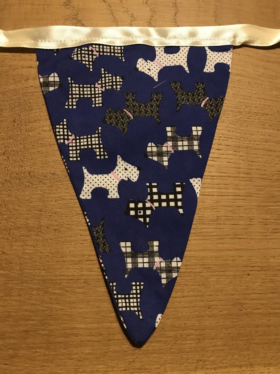 Bunting - Dark Blue Dog Print (3 metres) **Was £10.00 Now £5.00**