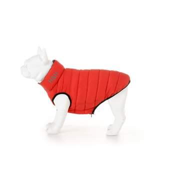 Hugo & Hudson Red & Navy Dog Puffer Jacket