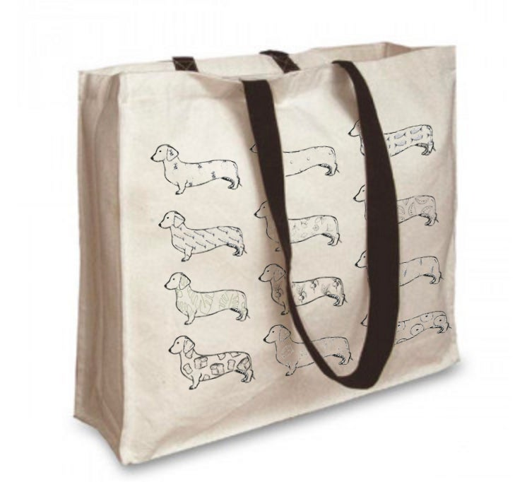 Tabby Rabbit - Premium Dachshund Tote **Was £12.00 Now £8.00**