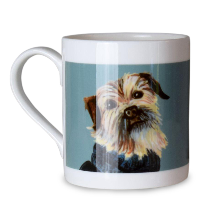 Dogs in Jumpers Bone China Mug - Border Terrier