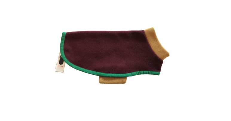 Kittydog Long Contrast Burgundy/Mustard Vest (Mini)