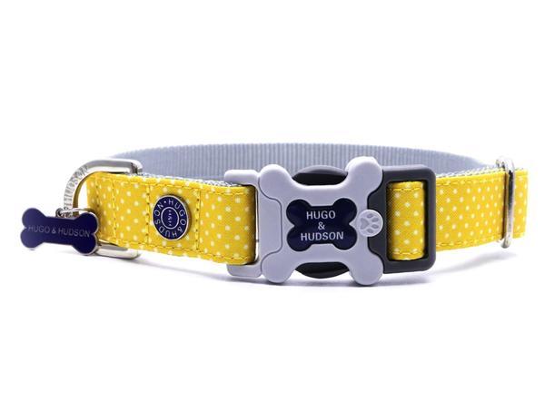 H&H Yellow Polka Dot Dog Collar