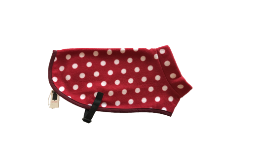 Kittydog Red & White Polka Jacket (Small)