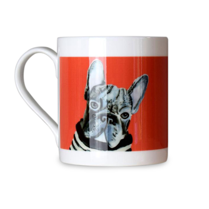 Dogs in Jumpers Bone China Mug - French Bulldog