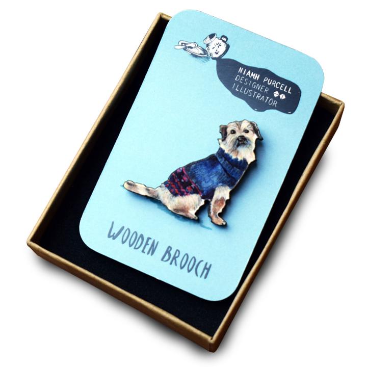 Brooch - Border Terrier