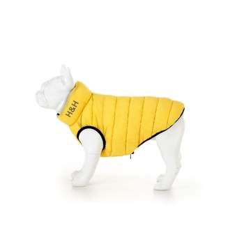 Hugo & Hudson Dog Puffer Jacket - Yellow & Navy