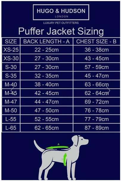 Hugo & Hudson Dog Puffer Jacket - Yellow & Navy