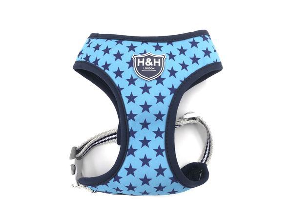 H&H Sky Blue Star Dog Harness