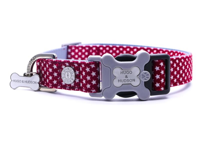 H&H Dog Collar Red Star