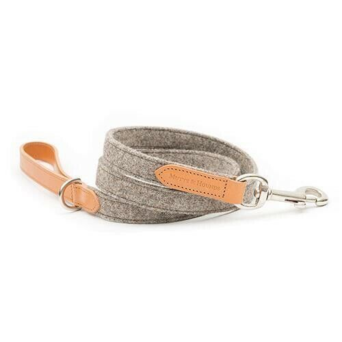 Mutts & Hounds Camello Leather & Tweed Dog Lead