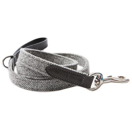 Mutts & Hounds Stoneham Tweed & Leather Lead (Wide)