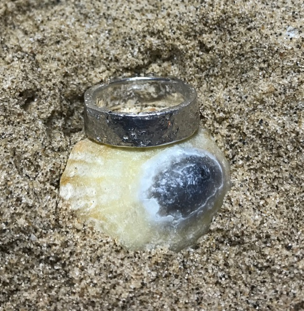 Sea Ripple Eco-silver Ring 5mm