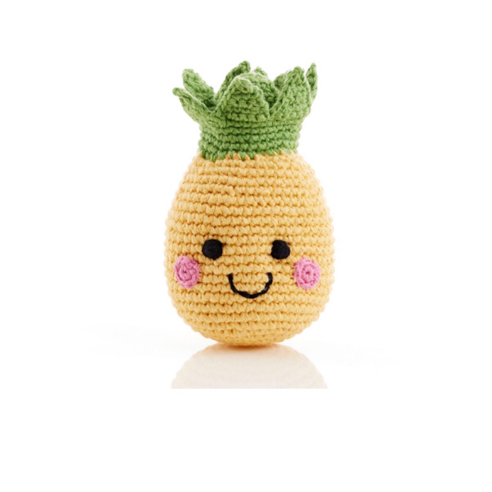 Pebble - Crochet cotton rattle - Pineapple