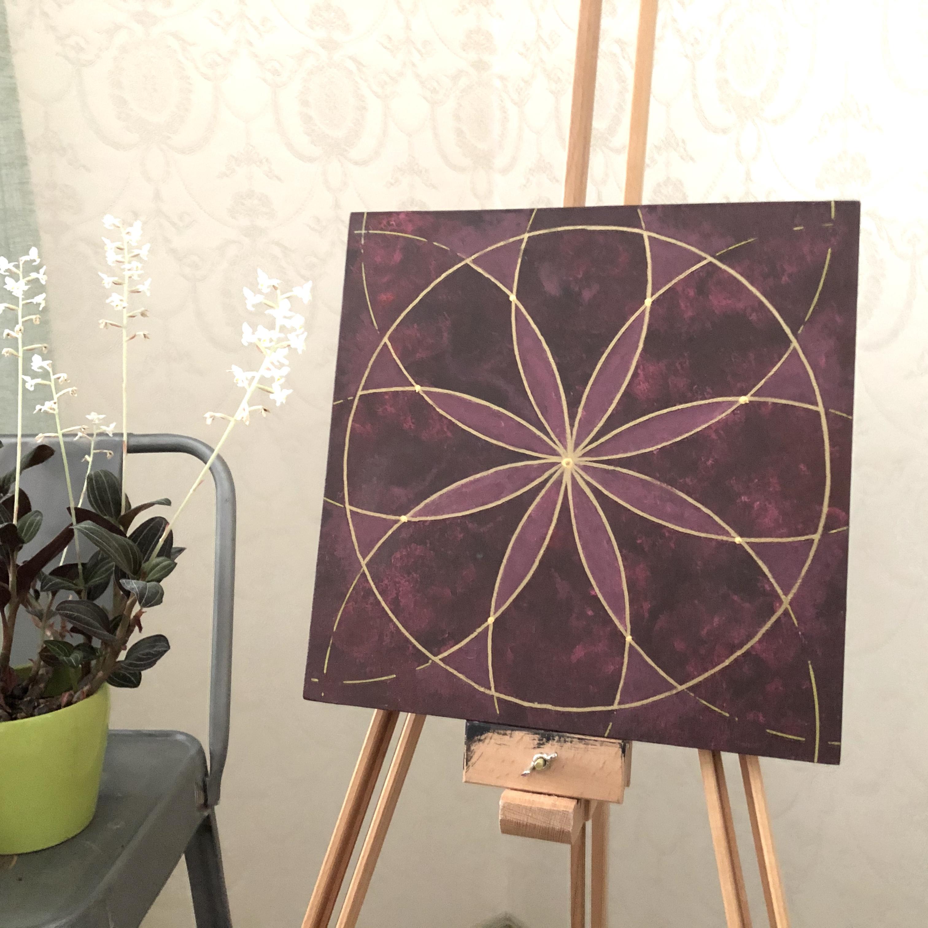 Pyhät geometriset taulut: Mahdollisuus, 30 x 30 cm