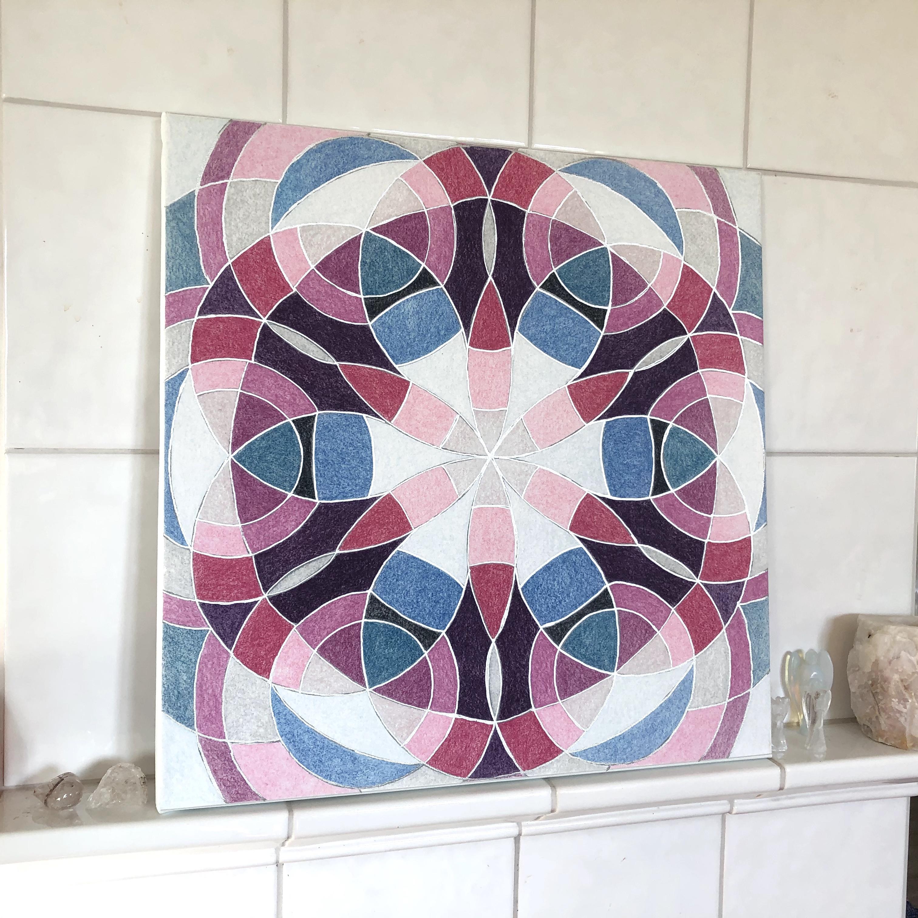 Pyhää geometriaa Ilmaelementti  kanvastaulu 50 x 50 cm