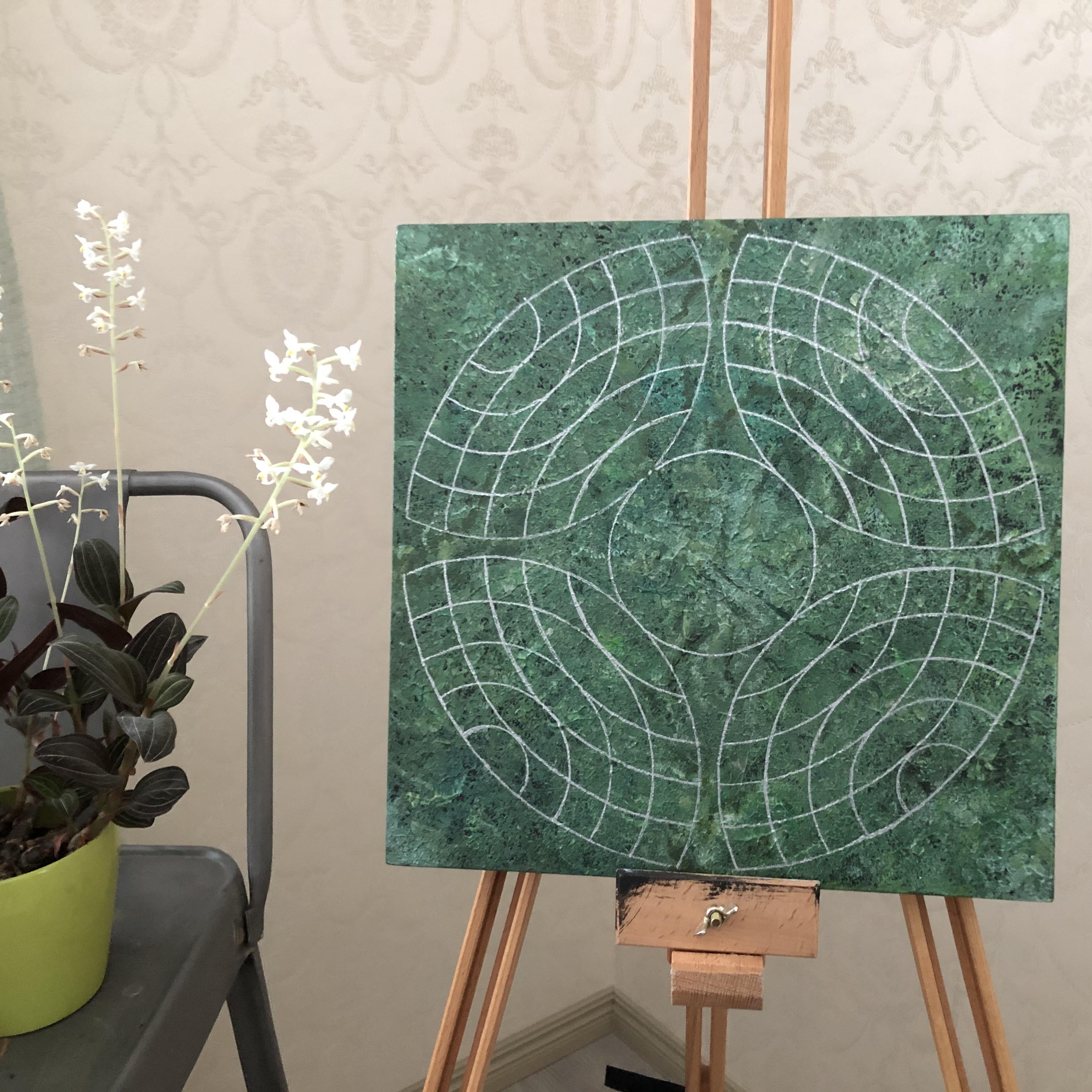 Pyhät geometriset taulut: Valon soturi, 30 x 30 cm