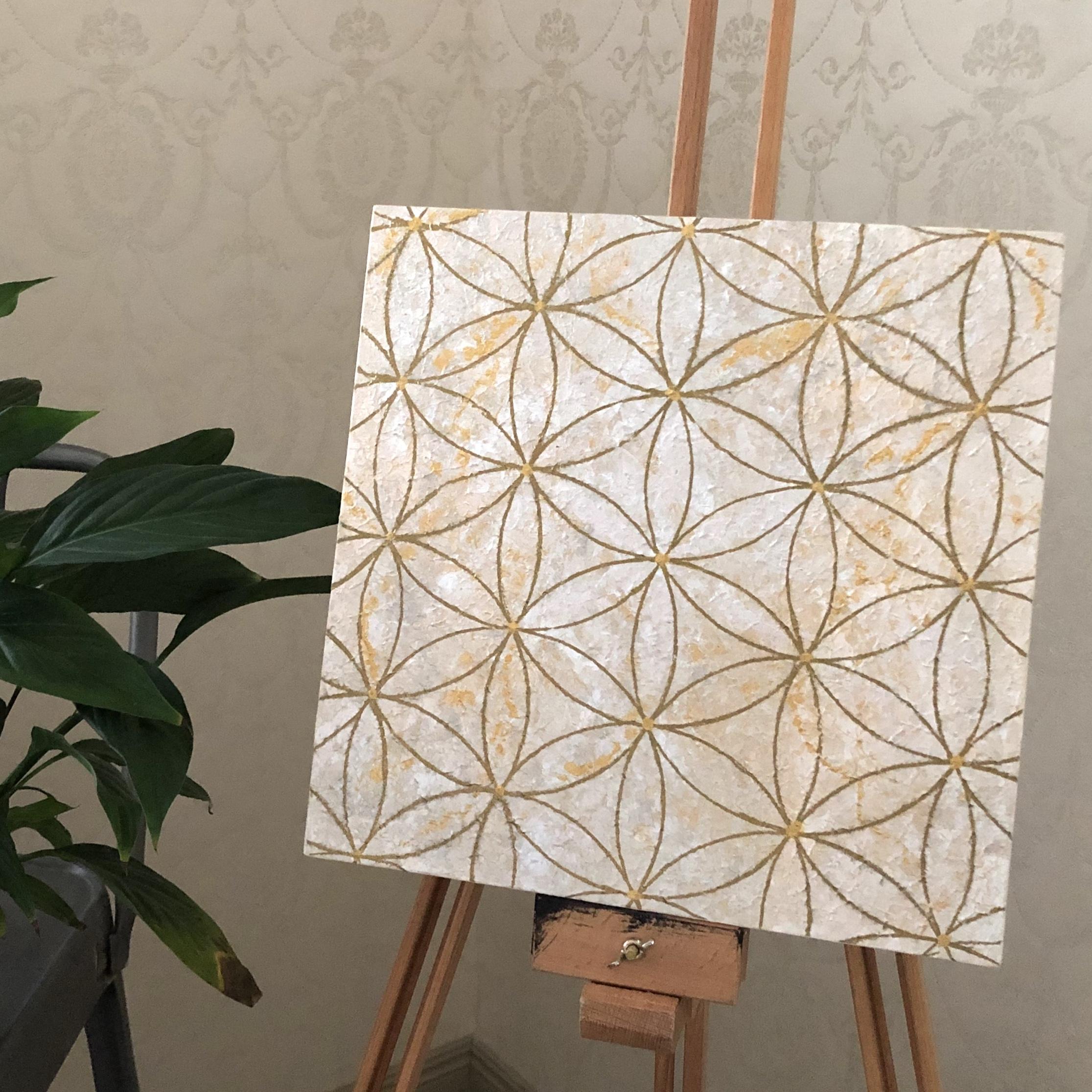 Pyhät geometriset taulut: Elämän ympyrät, 30 x 30 cm