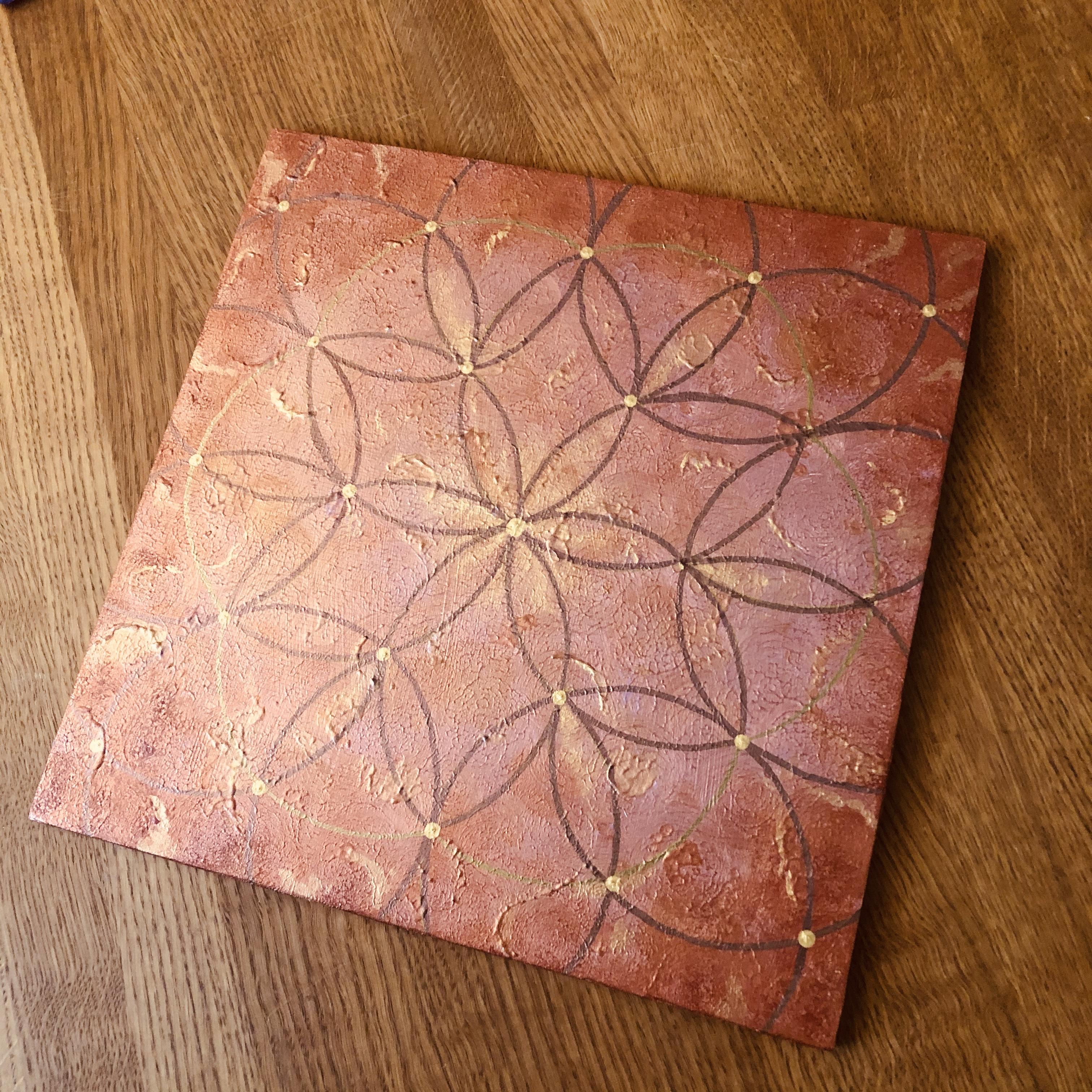 Pyhät geometriset taulut: Anna valosi loistaa, 30 x 30 cm