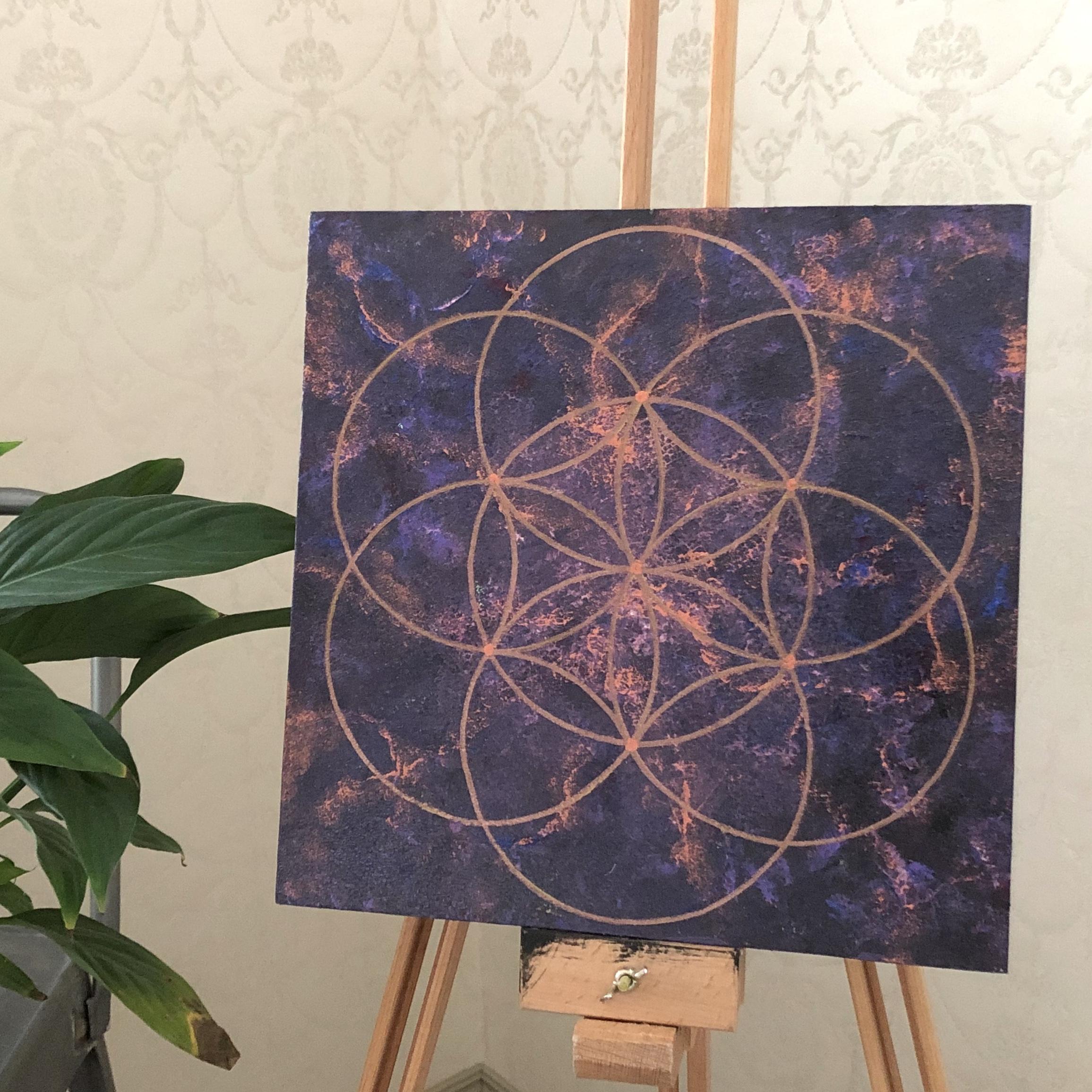 Pyhät geometriset taulut: Sielun peilisi, 30 x 30 cm