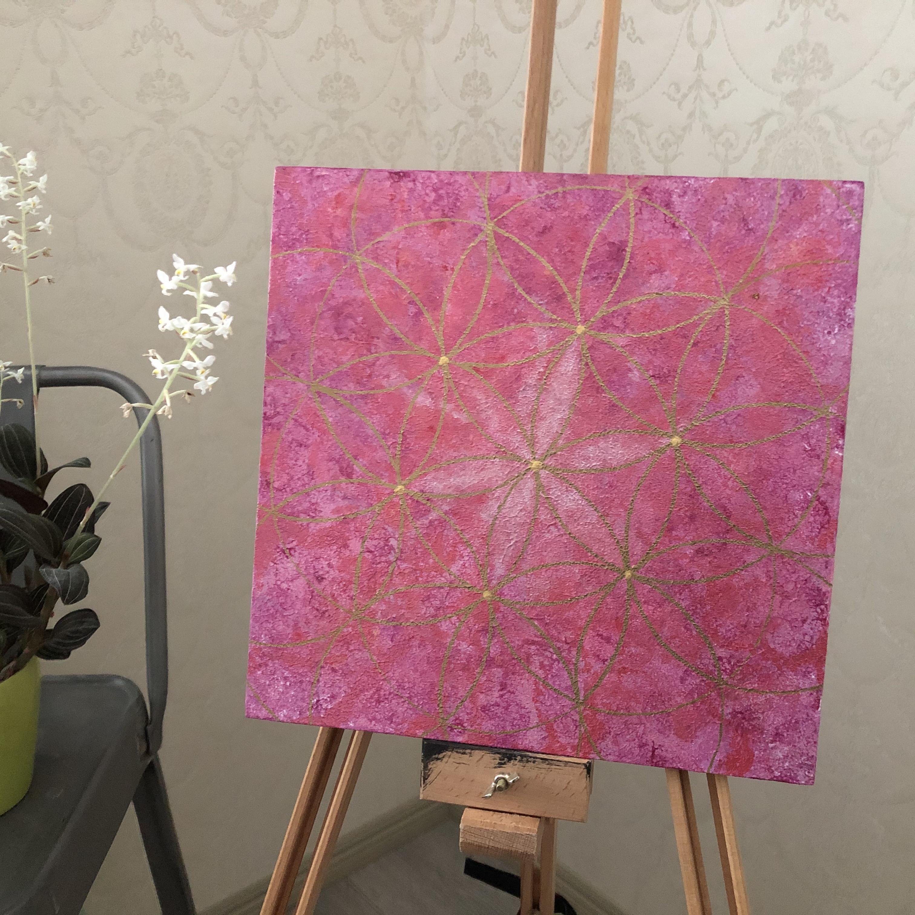 Pyhät geometriset taulut: Rakasta ja vaali itseäsi, 30 x 30 cm