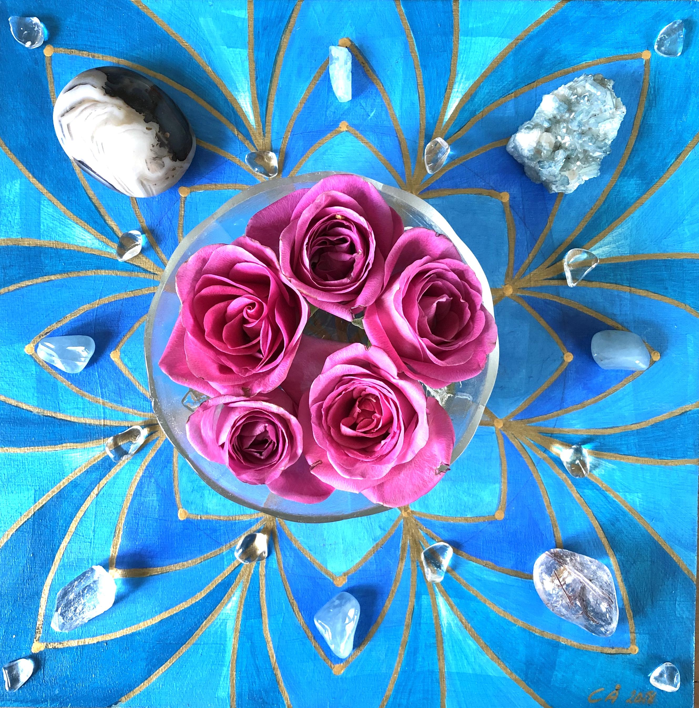 Pyhät geometriset taulut: Sininen, 30 x 30 cm