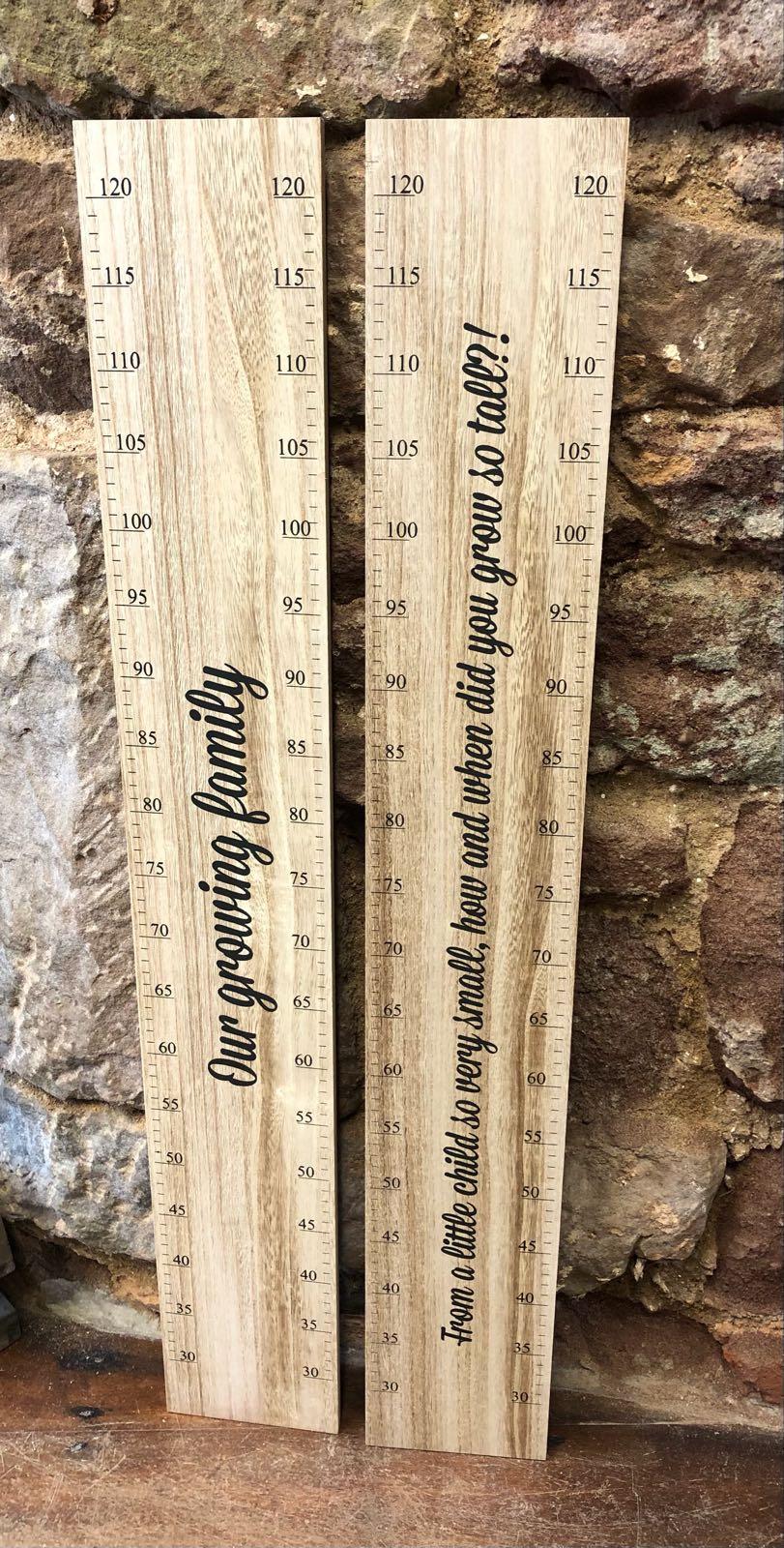 ruler height chart wall hanger