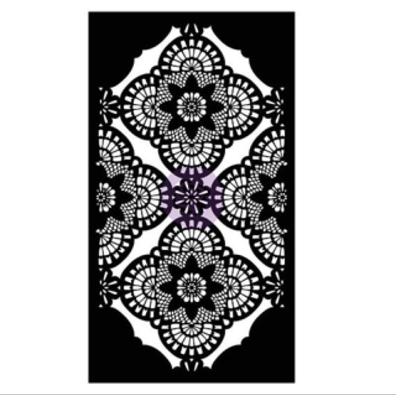 Re-Design with Prima 3D Stencil / Sjablong - Millicent Lace 15.5