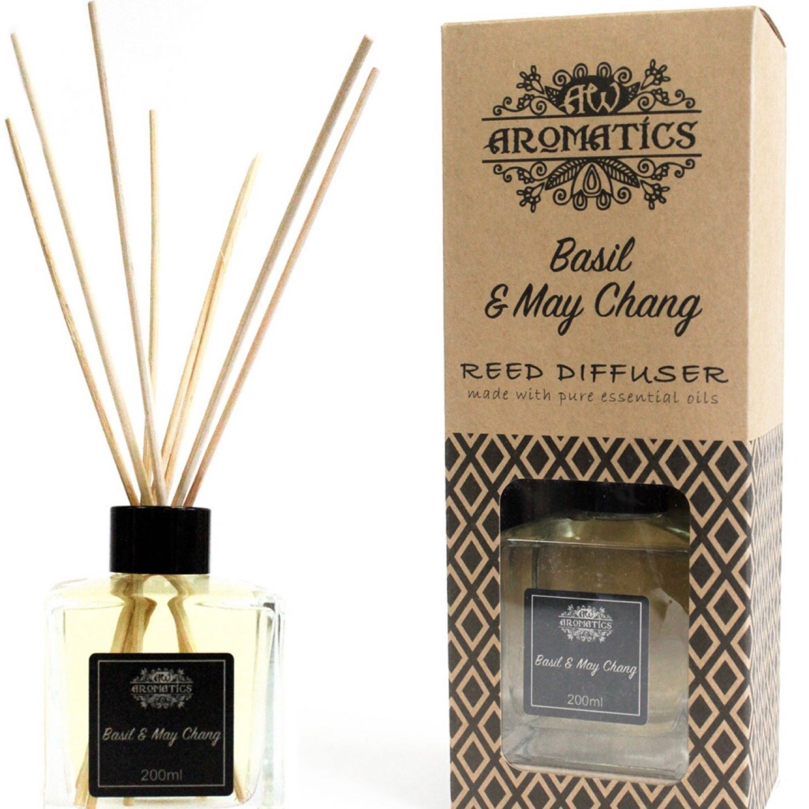 'Basil & May Chang' Essential Oil Reed Diffuser
