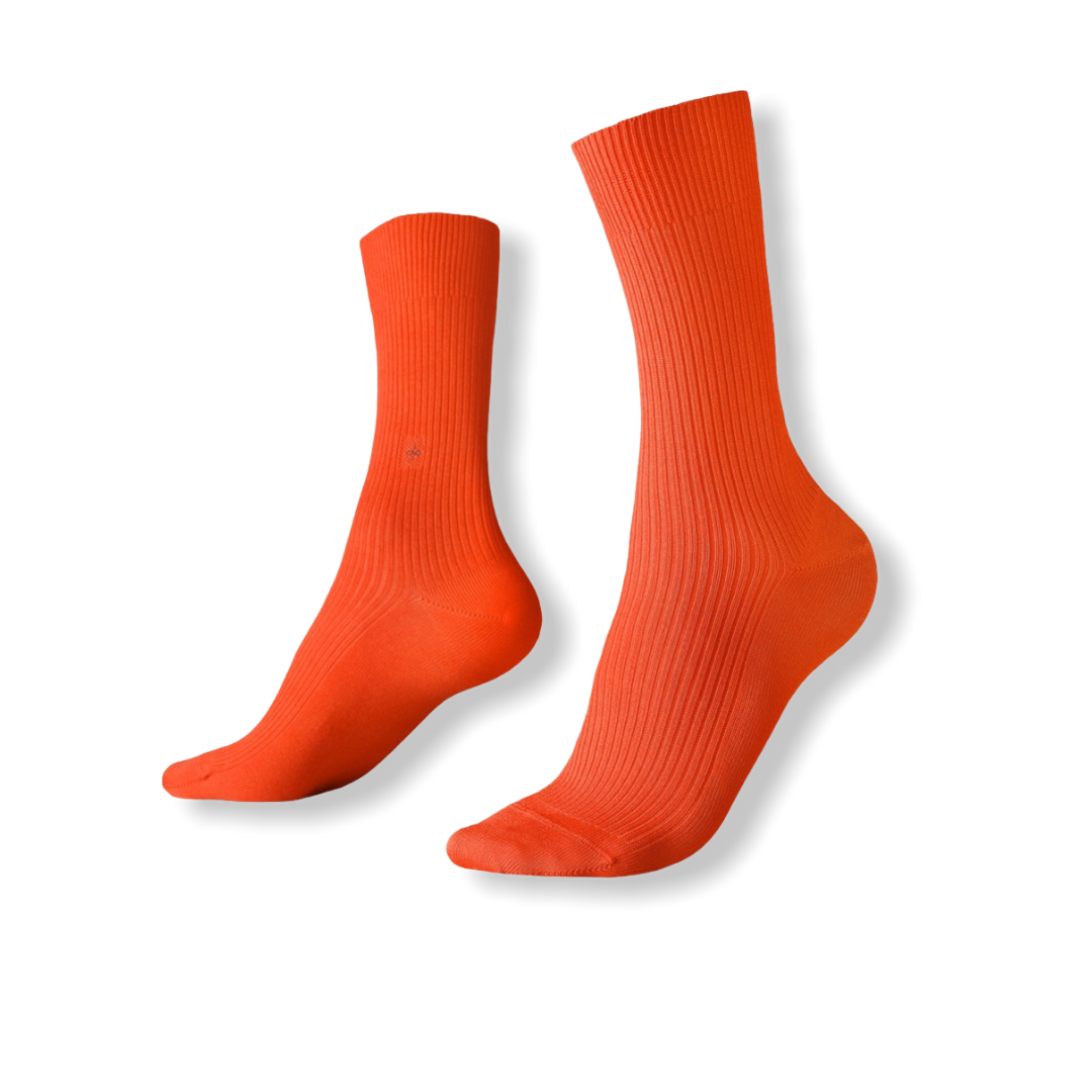 DUEPLE RIBBED CREW SOCKS