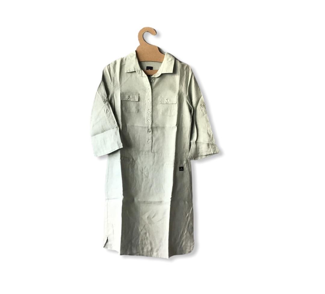 MOUSQUETON LIRA FRENCH LINEN WORK DRESS