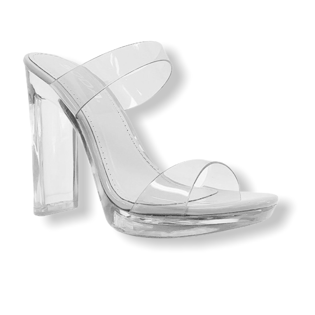 KISSAUANXX CLEAR HEELS