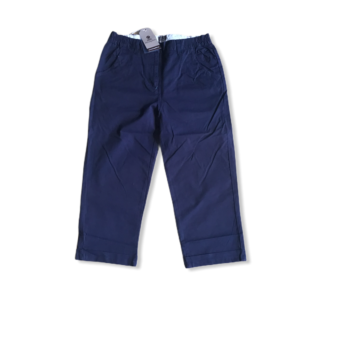 MOUSQUETON MELANNY CROPPED TROUSERS NAVY