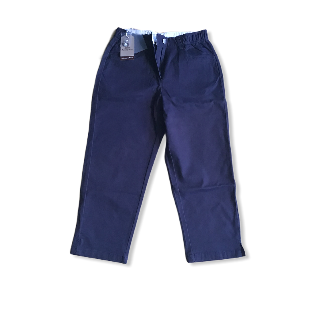 MOUSQUETON ANNY CROPPED TROUSER NAVY