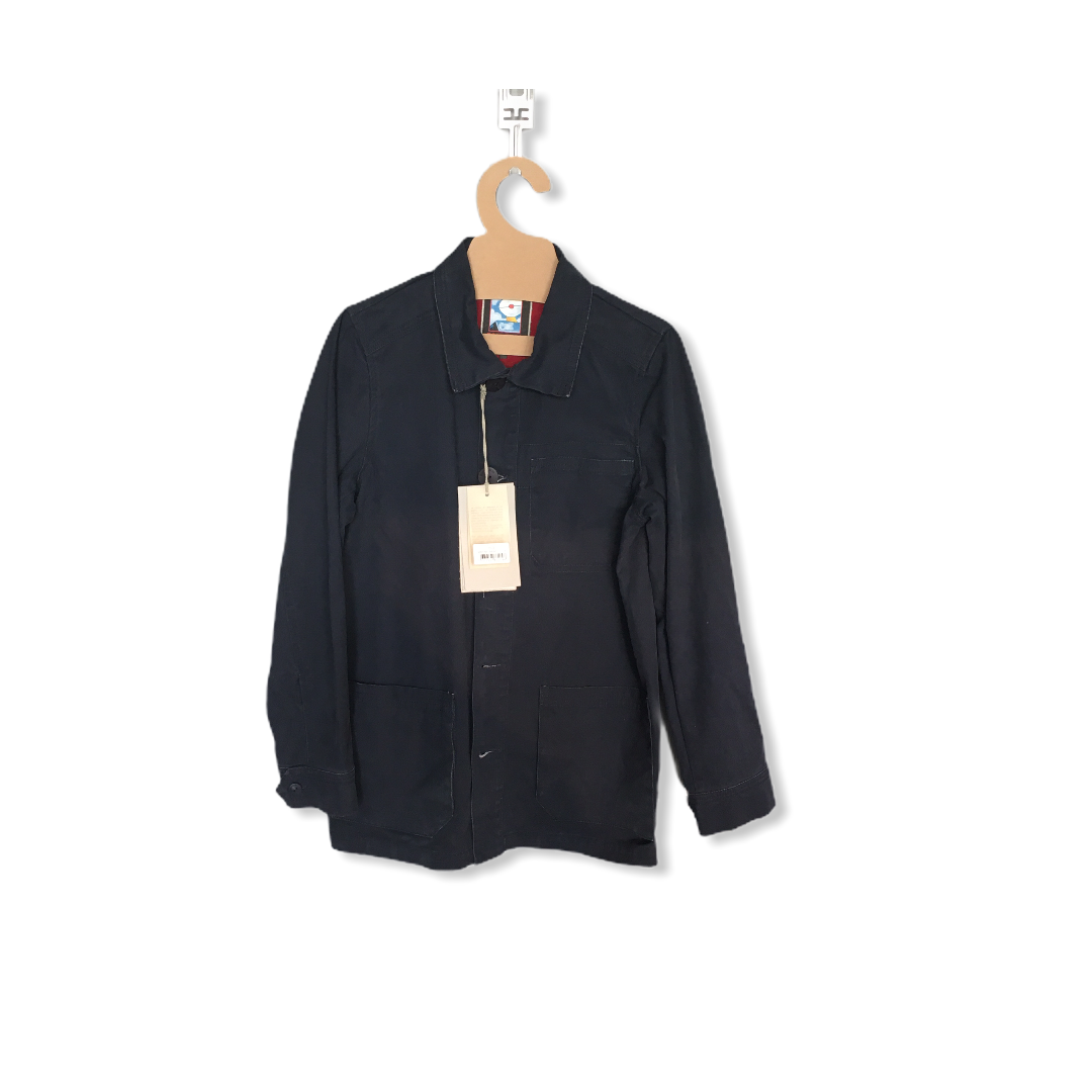 HILEZ FRENCH CHORE COAT NAVY