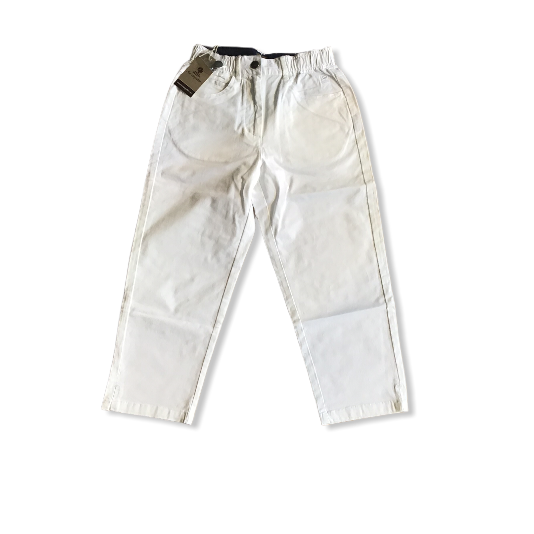 ANNY CROPPED TROUSER WHITE