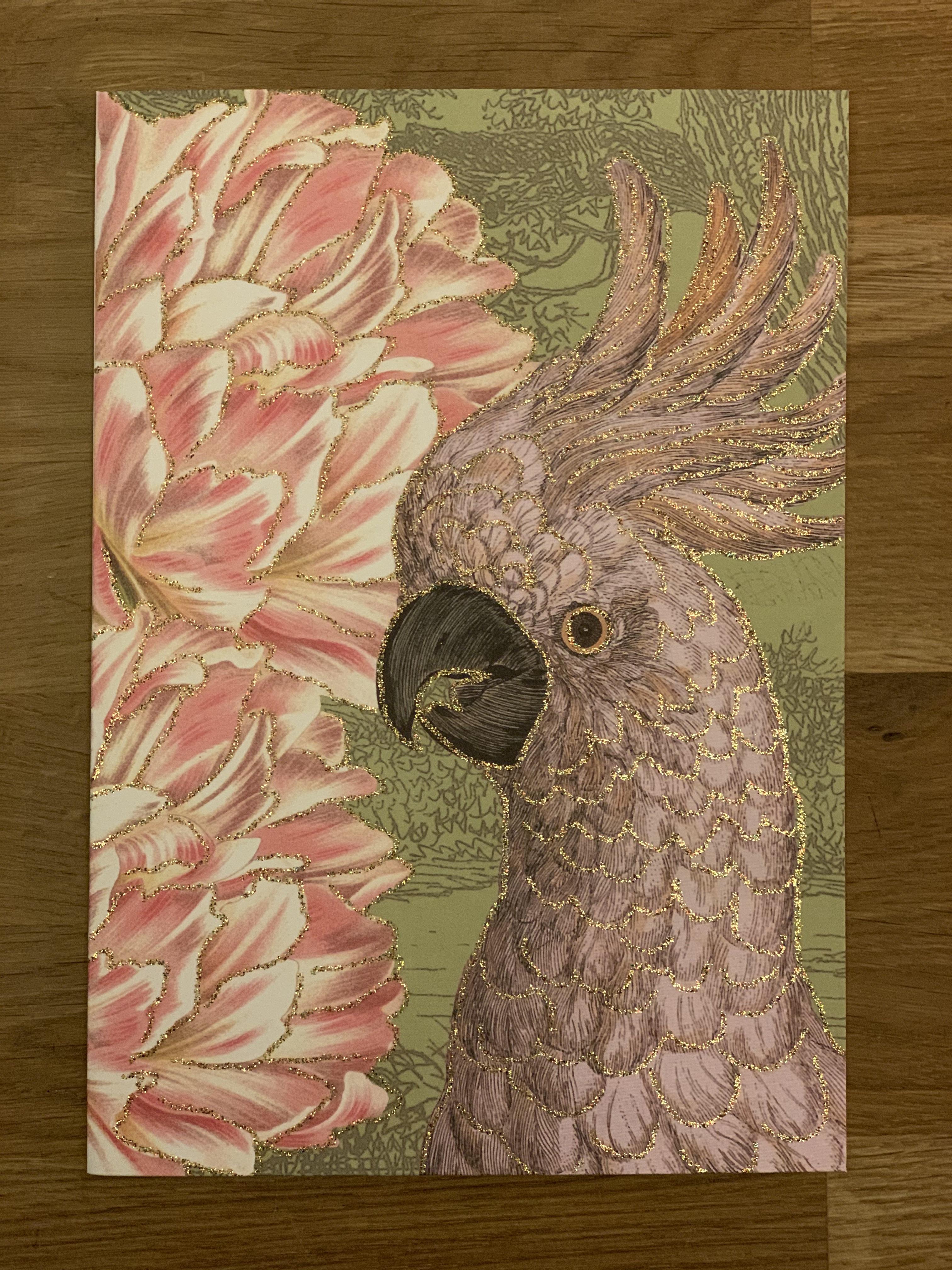 "Kort ""Tulip Parrot"""