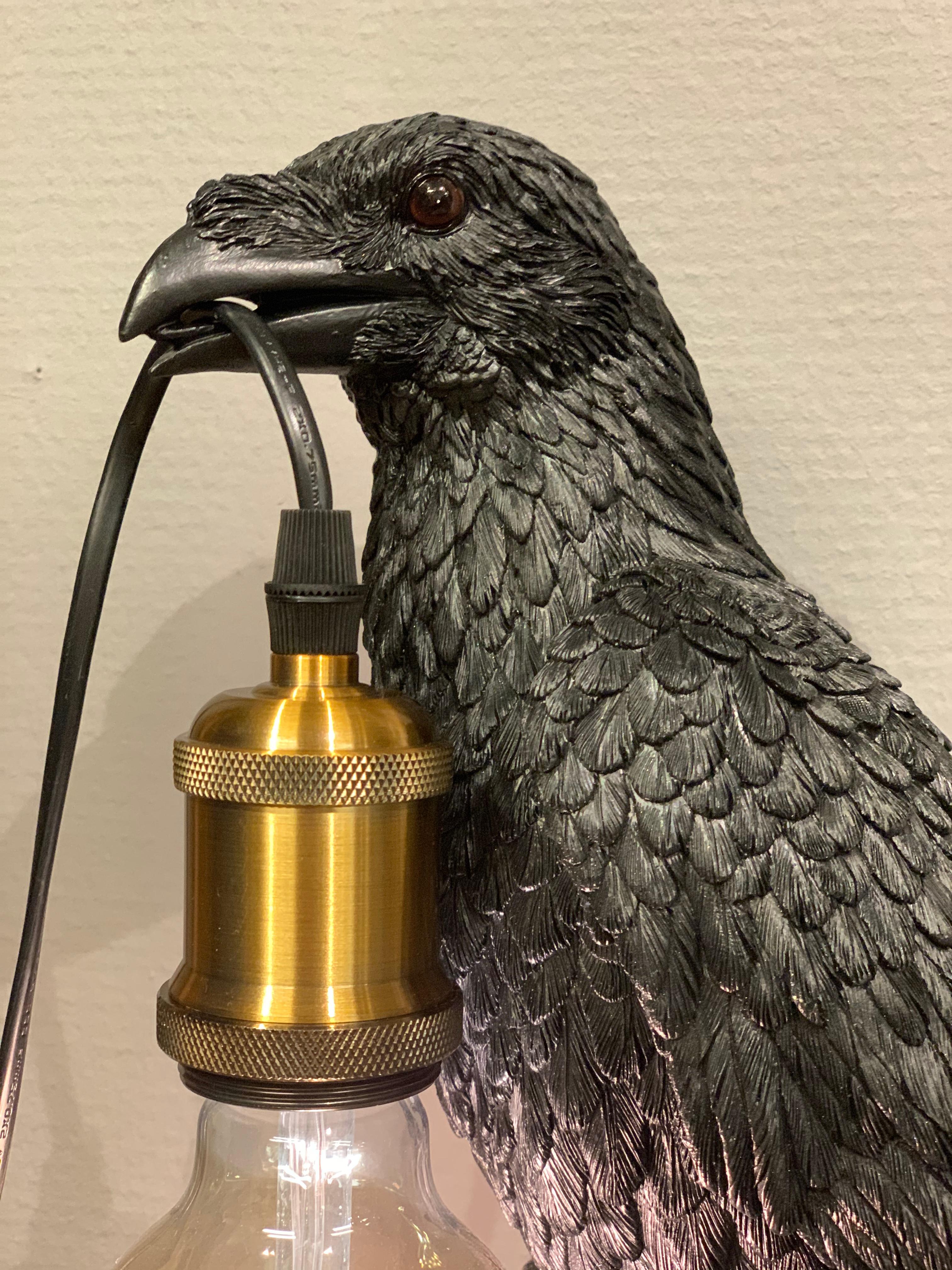 Vägglampa Fågel