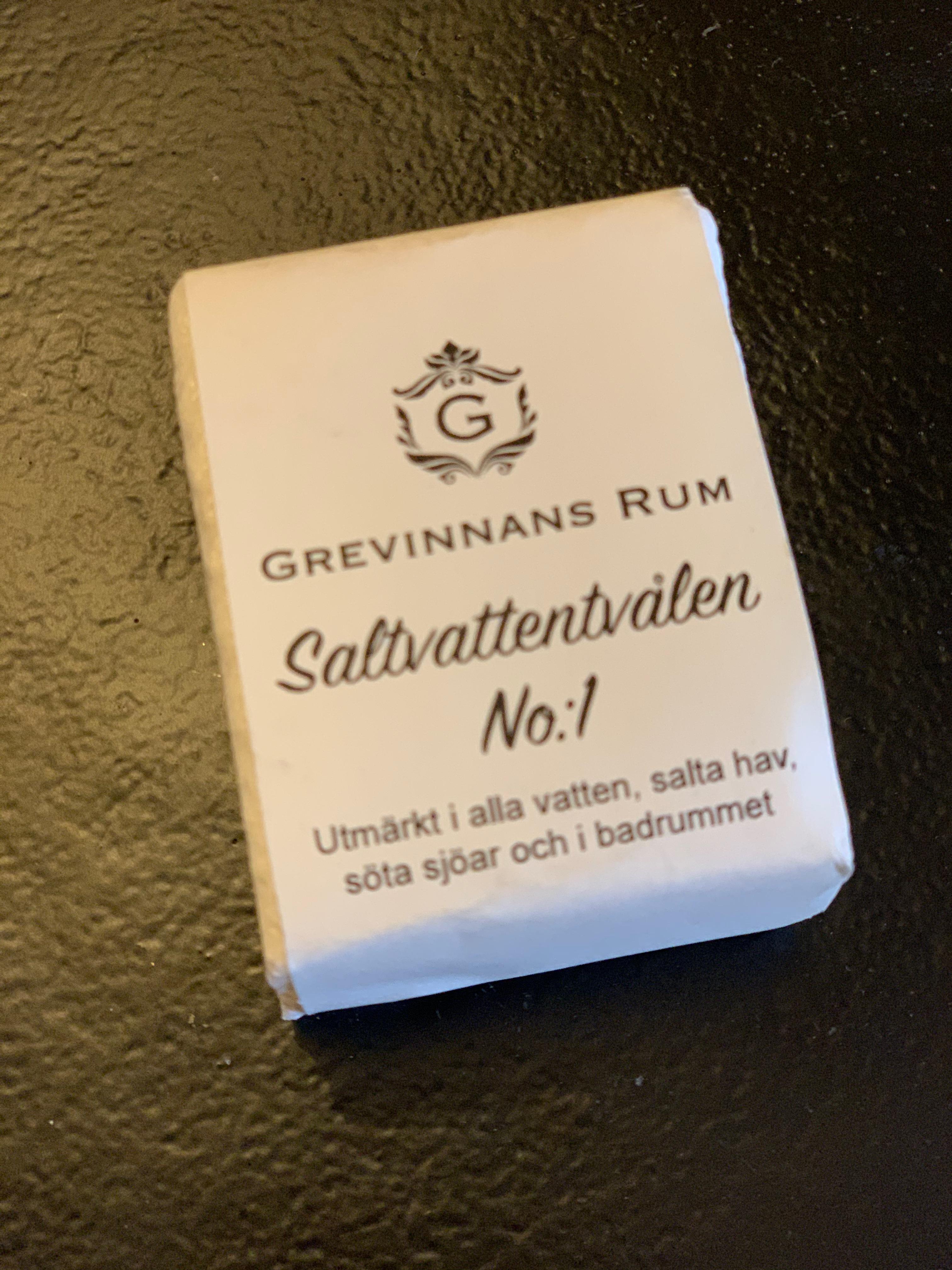 Saltvattentvålen No 1 Handfatsmodell