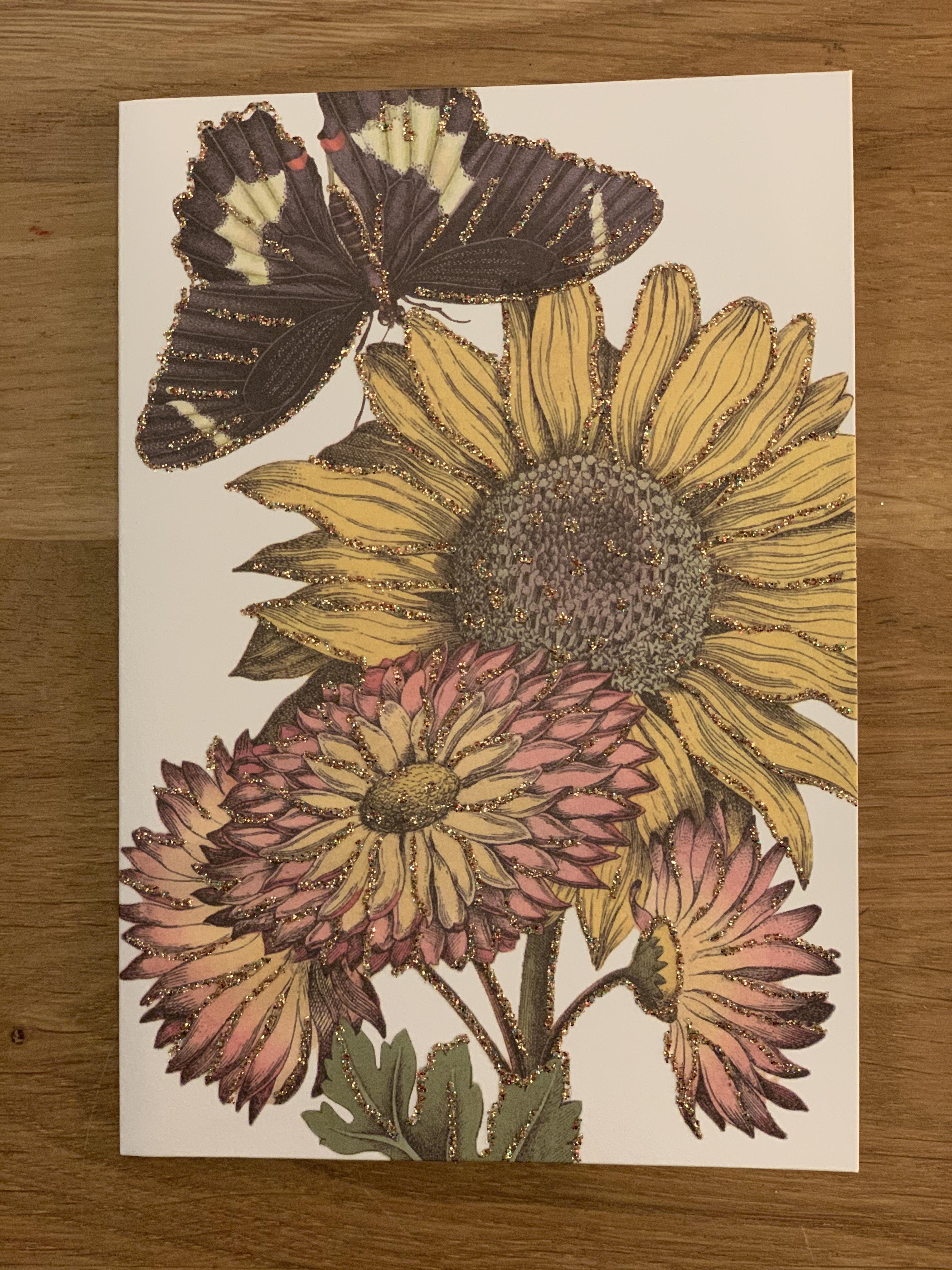 "Kort ""Sunflower"""