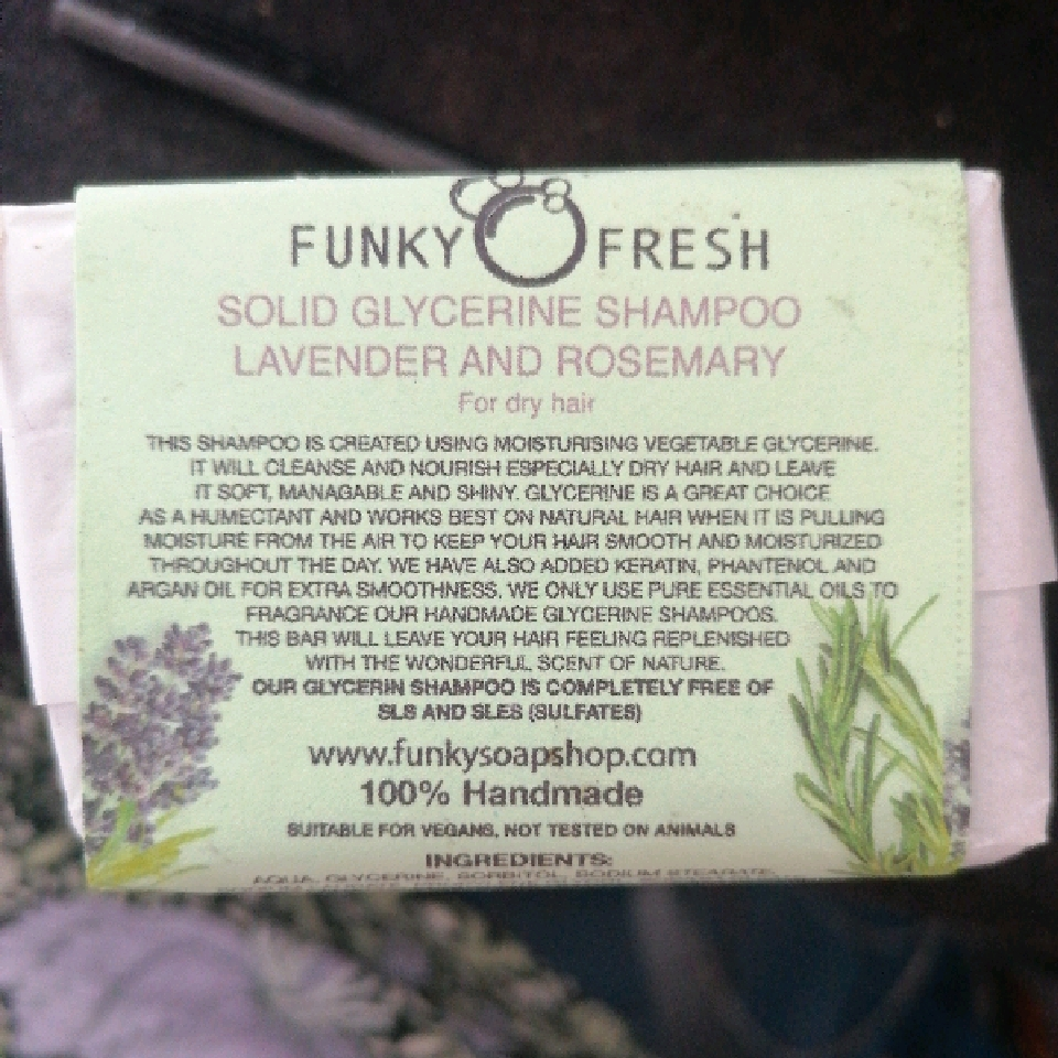 Funky Fresh Lavender & Rosemary glycerin shampoo For Dry Hair, 95g