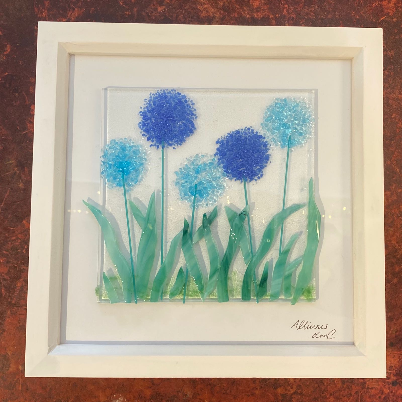 Alliums Picture - Box Framed 25x25cm