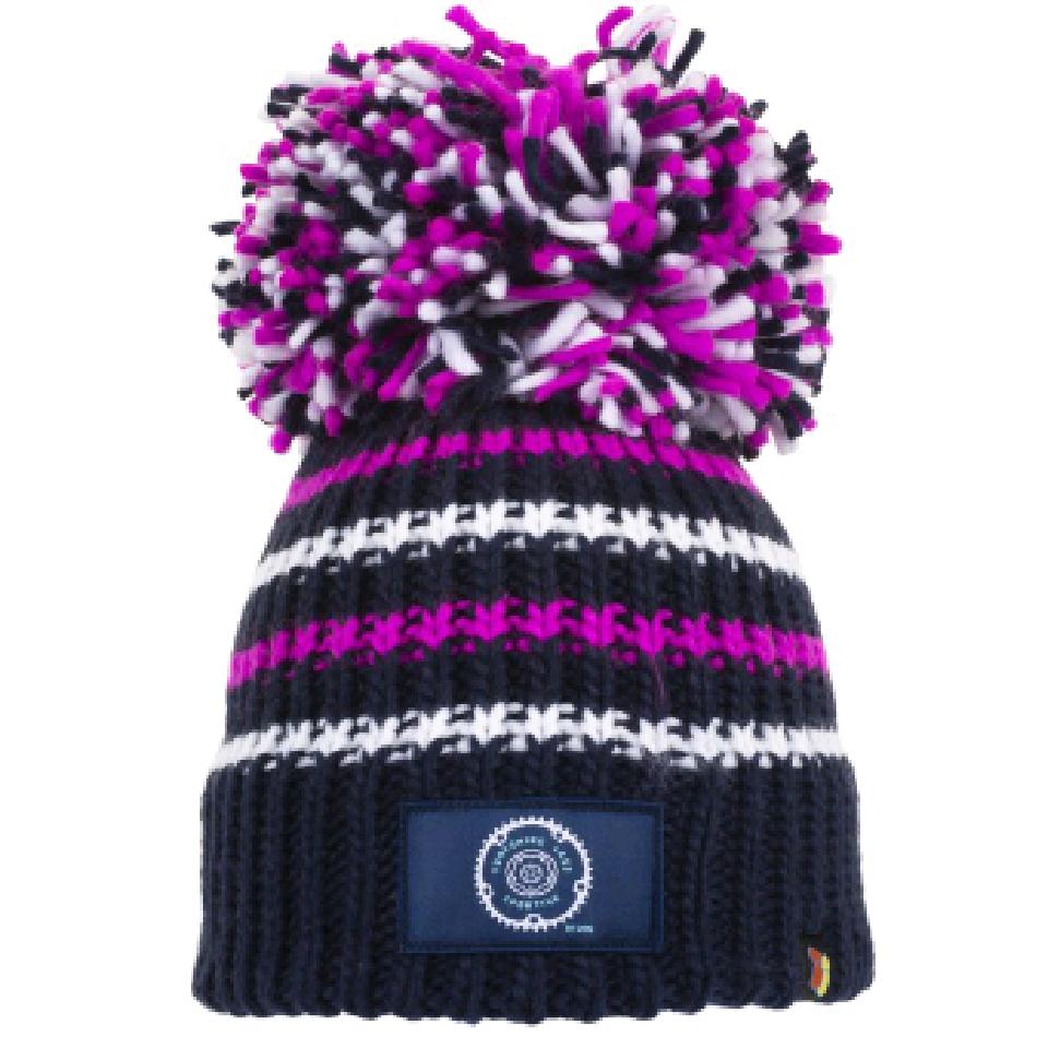 Navy Yorkshire Lass Big Bobble Hat
