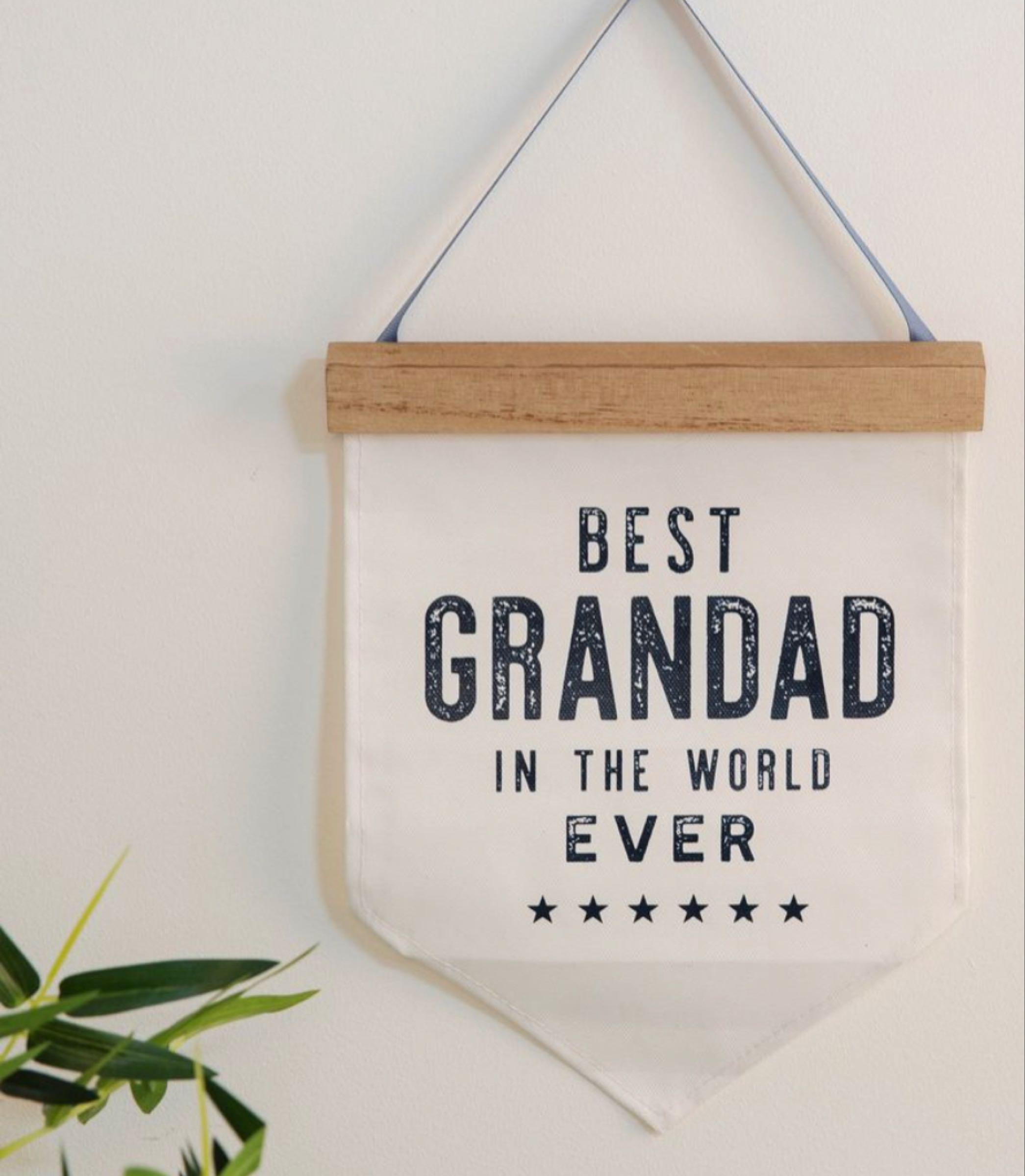 Best Grandad Ever Canvas Pendant