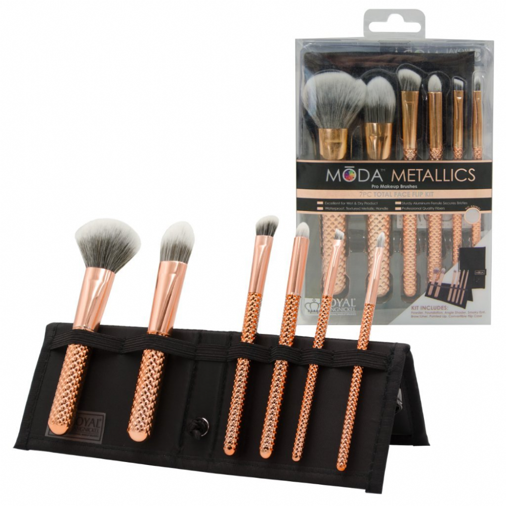 Metallics Complete Makeup Brush 7 Piece set
