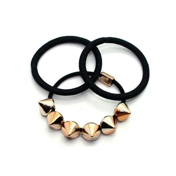 Gold Spike Hair Elastics