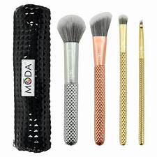 Metallic Complete Makeup Brush Kit 5 Piece