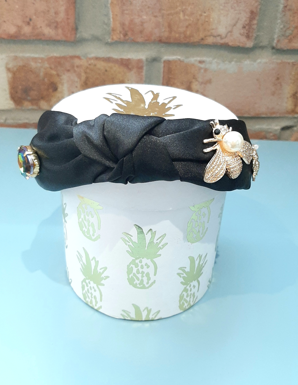 Satin Bee Headband
