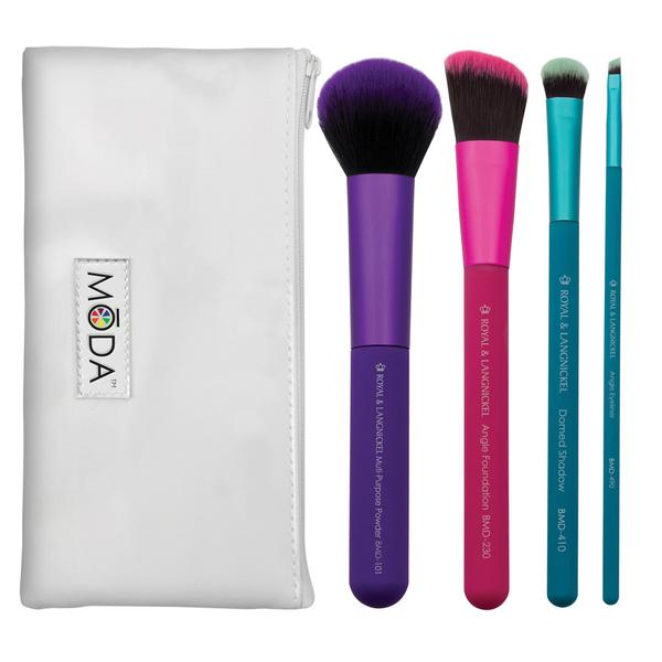 Complete Colourful Makeup Brush Kit 5 Piece