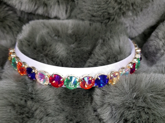 Multicoloured Crystal Headband