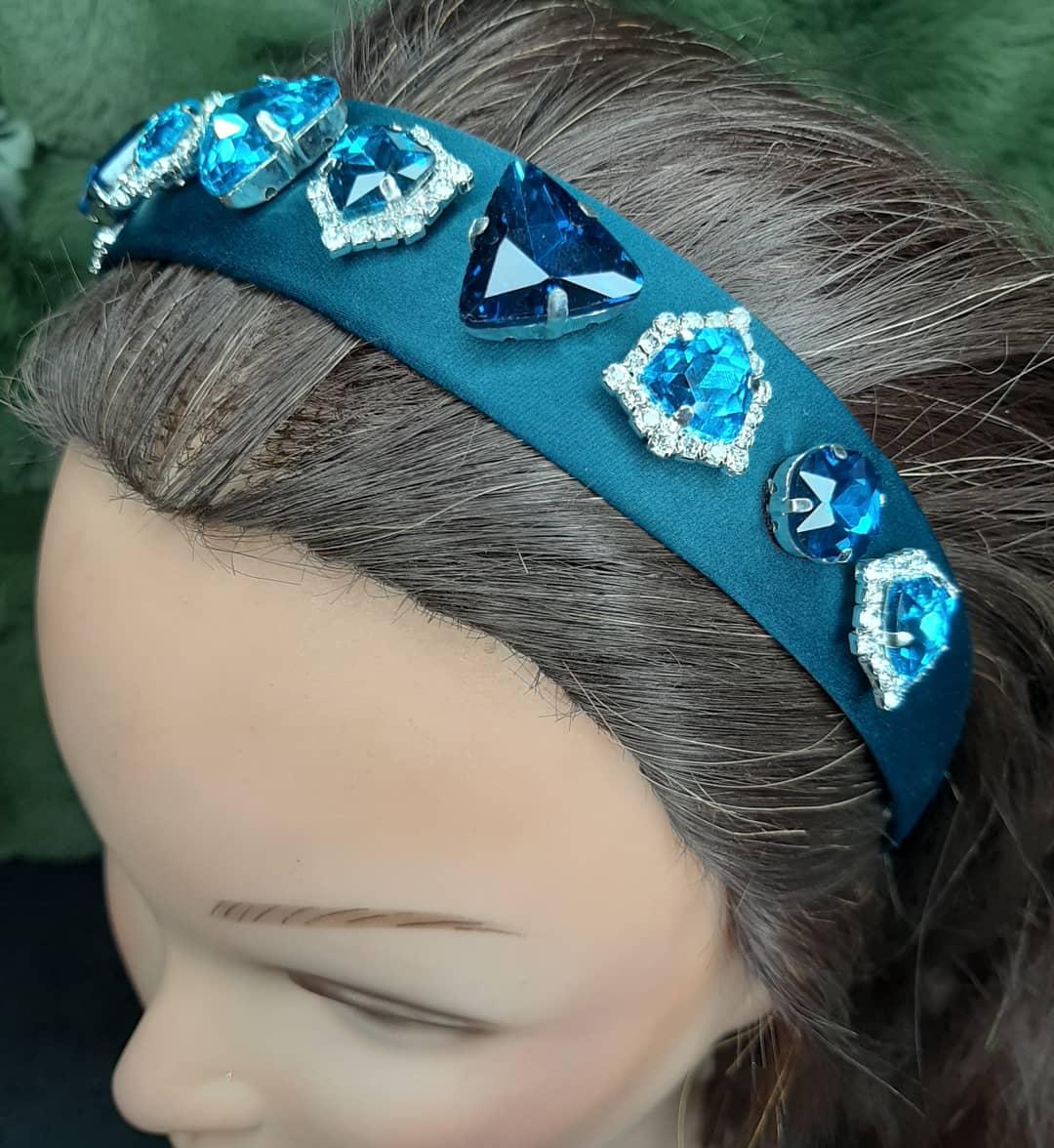 Satin Gemstone Headband